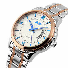 Luxury Stainless Steel Mens Watches Waterproof Roman Numeral Quartz Watch Dress