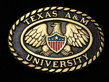 PI03151 VINTAGE 1970s **TEXAS A&M UNIVERSITY** SCHOOL SOLID BRASS BELT BUCKLE