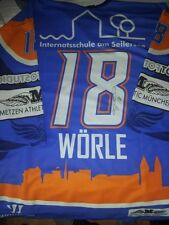 Game Worn Warm Up Trikot Tobias Wörle Iserlohn Roosters EHC Red Bull München