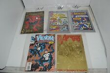 Lot of 5 Collectible Comic Books with Plastic Sleeves (Spider-Man, X-Men, Avenge