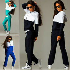 Womens Tracksuit Hoodie Sweatshirt Top Pants Sets Zipper Casual GYM Sport Wear
