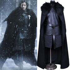 Adult Game of Thrones Jon Snow Cosplay Halloween Costume Fancy Party Men Outfit
