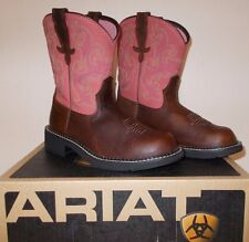 NEW ARIAT Fatbaby II Brown Rose Pink WESTERN Cowboy BOOTS WOMENS 7 7.5 8 NIB