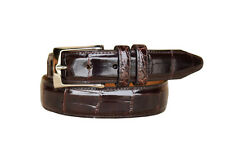 Lejon Men's Catania Handcrafted From Luxury  Grain Leather Brown Belts 15772