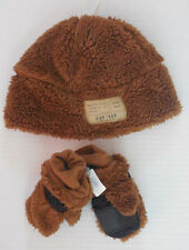 NWT Baby Gap Furry Brown warm hat / mittens gloves Size XS S M L NEW