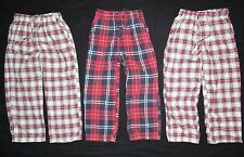 3 City College by Wes and Willy COTTON lounge dorm RED pants PLAID boys 5 6 LOT
