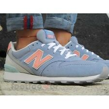 Shoes New Balance WR996JG woman Classic Collection Sneakers Light Blue Salmon
