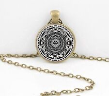 Princess Mirror Twilight Black and White Mandala Pendant Necklace