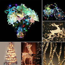 20/30/40 LED String Copper Wire Fairy Lights Battery Operated Xmas Party Decor