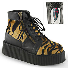 Demonia Men's Costume Unisex Platform Lace Up Creeper Booties V-CREEPER-571