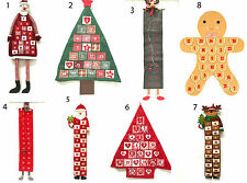 Selection Large Hanging Fabric Christmas Tree Reindeer Santa Advent Calendar