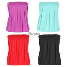 Angvns New Sexy Strapless sleeveless Pleated Top Clubwear Party Tube Top UTAR
