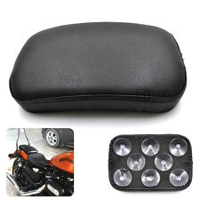 Rectangular Pillion Passenger Pad Seat 8 Suction Cup For Harley Chopper Cruiser