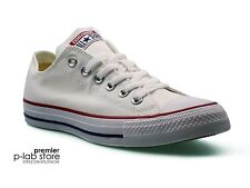 Converse Chuck Taylor All Star Ox Low Top White Canvas Unisex Trainers. New