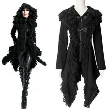 Punk Rock irregular Hoodie Jacket Coat Gothic Kera Visual kei with Horn buttons