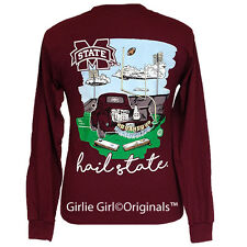 "Girlie Girl Originals Tailgates & Touchdowns MSU"" Long Sleeve Unisex Fit T-Shirt"