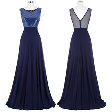 Long Bridesmaids Homecoming Sequined Chiffon Ball Gown Evening Prom Party Dress