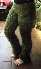 Olive Green Magic Fuzzy Pants Nymph Grass Tree Camo Grinch Oscar Grouch S M L XL