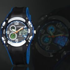OHSEN Mens Sport Analog Digital Quartz Watch Alarm Date Chrono Resin Wrist Watch