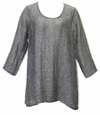 Flax Designs  Social Tunic NWT   Linen  Gauze  *  choice of size  Raven or Dove