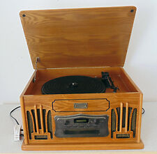 Daklin Museum Series Retro Wooden Music Centre CD Tape Record Player Turntable