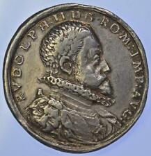 Holy Roman Empire - Rudolph II (1552-1612) City crests silver medal