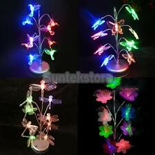 Multi-colored Changing LED Tree Night Light Table Lamp Home Decor + USB Cable