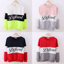 Beauty Women Long Sleeve Cotton Blend Multi-Color Letter Printed Hoodies Tops