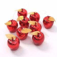 Christmas Tree Big Apple Decorations Baubles Party Wedding Xmas Ornament 6pcs