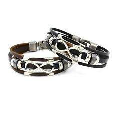 1PCS Bracelets Leather Men Cuff Fashion Wristbands Braided Hot Bangle Chic Alloy