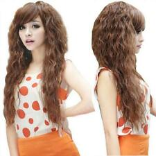Full Curly 2016 Fashion Cosplay Party Wavy Long Sexy Hair Wigs Womens 3 Colors