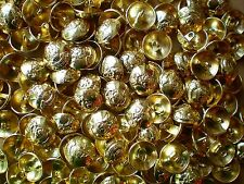 15mm 24L Gold Effect Metal Military Coat of Arms Domed Shank Blazer Buttons M14