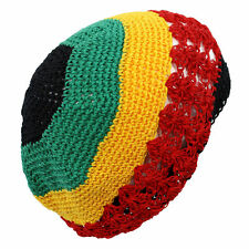Beanie Crochet Caps Net Mesh Rasta Braided Kufi Knit Coopy Hats Jamaican Small