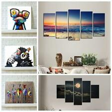 Wall Art Canvas Printed Decor Sunset Seascape Moon Night  Picture Unframed PE