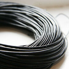 Black Utility Leather Cord Thread For DIY Bracelet Necklace Jewelry Making 1.5mm