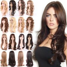 Vogue Womens Wig Cosplay Full Wig Long Straight Layer Honey Blonde Medium Brown