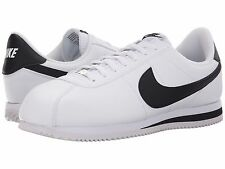 NIKE CORTEZ LEATHER 2016 WHITE BLACK MENS LIFESTYLE SHOES **FREE POST AUSTRALIA