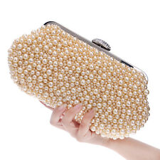 Crystal Pearl Clutch Women's Fashion Wedding Bridal Evening Bags Wallets Handbag