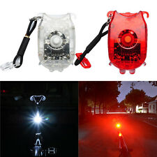 Bicycle Night Riding Waterproof Rechargeable ABS LED Tail Rear Light + USB Cable