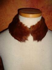 Vintage dainty REAL lined brown  mink collar for sweaters coats dresses blouses