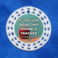 If You Can Read This Thank Teacher CUSTOM Personalized Porcelain Gift 3 Formats