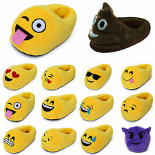 3D Emoji Plush Stuffed Unisex Slippers Warm Winter Home Emoticon Indoor Shoes