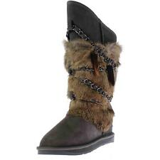 Australia Luxe 4610 Womens Atilla Sheepskin Chain Detail Winter Boots Shoes BHFO