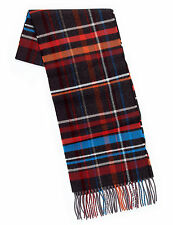 M&S Mens Blue Harbour Heritage Woven Scarf Checked Fringe Trim Multi Mix BNWT