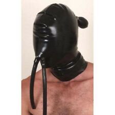 Latex Inflatable Hood with Nose Tubes - Latex Fetish Mask Clothing Gear Kinky