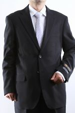MENS TWO BUTTON SUPERIOR 100 BLACK DRESS SUIT BIG & TALL, SML-60212S-60201-BLK