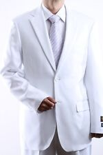 MENS TWO BUTTON SUPERIOR 100 WHITE DRESS SUIT, SML-60212S-60212-WHI