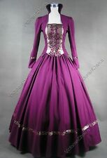Victorian Gothic Brocade Prom Dress Ball Gown Theater Reenactment Clothing 111
