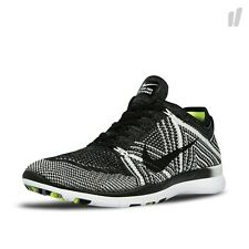 Nike Free TR Flyknit Womens Size Running Shoes Black White Volt 718785 004