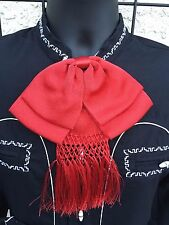Mexican Bow Tie Charro and Mariachi Red Adult  From Mexico.Moño Charro/Mariachi